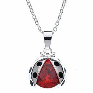 Swarovski Lucky Ladybug Necklace Ruby Red